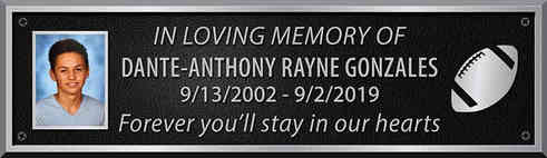 Personalized Aluminum Memorial Bench Plaque with Photo