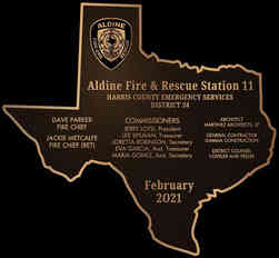 Fire & Rescue Station Dedication Plaque