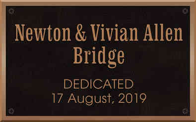 Bridge Dedication Plaque