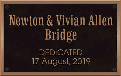 Bridge Dedication Plaque