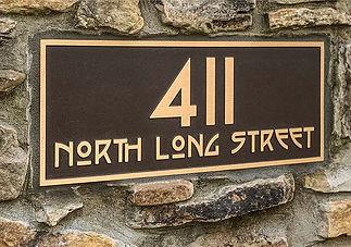 Cast Bronze Craftsman Style Address Plaque