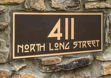 Cast Bronze Craftsman Style Address Plaque