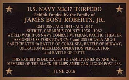 Military Navy American Legion Exhibit Plaque