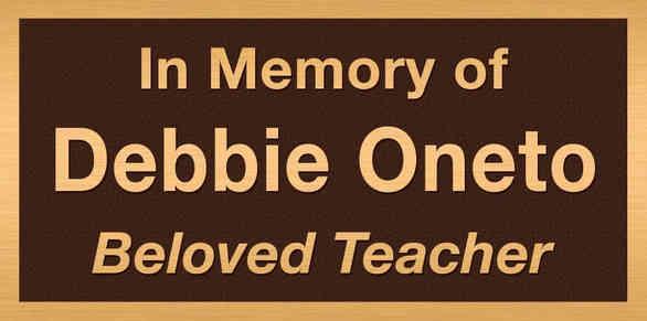 In Memory of Teacher Plaque
