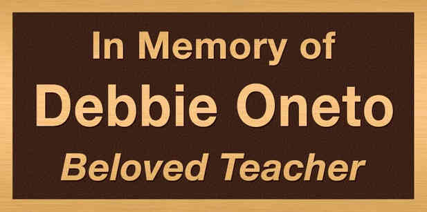 In Memory of Teacher Plaque