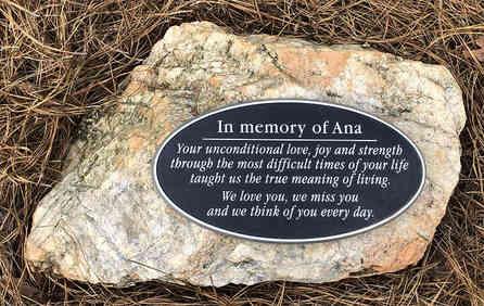 Oval Memorial Plaque for Garden
