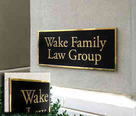Law Office Business Name Plaque