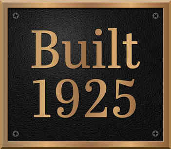 Historical Home Year Built Plaque