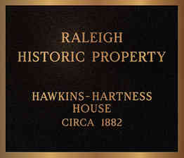 Raleigh City Historic Property Designation Plaque