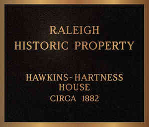 Raleigh City Historic Property Designation Plaque