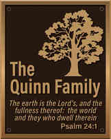 Family Garden Plaque with Tree and Bible Verse