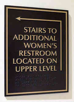Church Directional Plaque with Braille