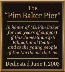 Pier Recognition Dedication Plaque