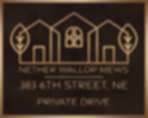 bronze entrance address plaque