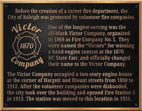 Plaque Honoring Historic African-American Fire Company