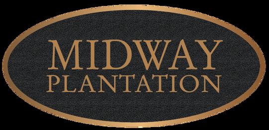 Historic Plantation Oval Bronze Plaque