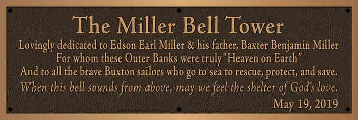 Church Bell Tower Dedication Plaque