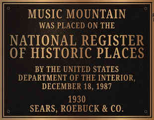 National Historic Register Plaque Showing Year Built