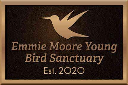 Bronze Bird Sanctuary Dedication Plaque