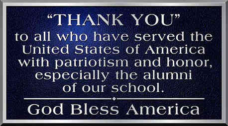 Plaque to Thank School Alumni Veterans