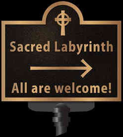 Cast Bronze Church Labyrinth Two Sided Plaque
