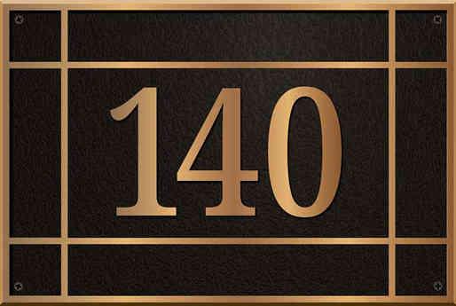 Custom House Address Plaque