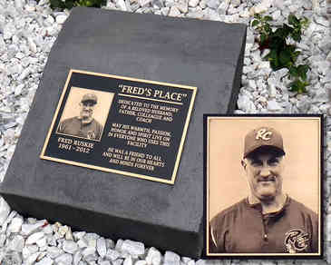 Memorial Plaque with Photo for Coach