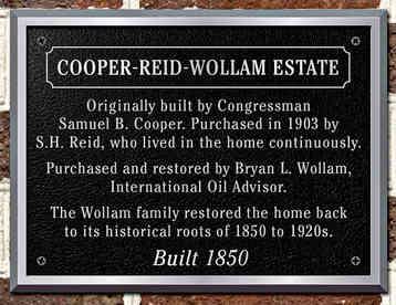 Historic Estate Plaque with Description