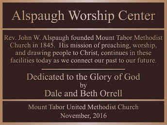 Church Worship Center Dedication Plaque