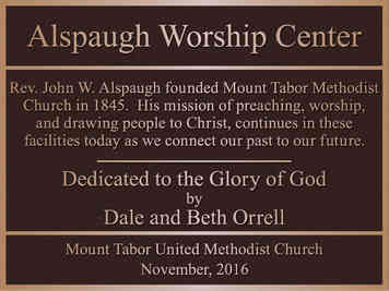 Church Worship Center Memorial Plaque