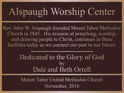Church Dedication / Information Plaque