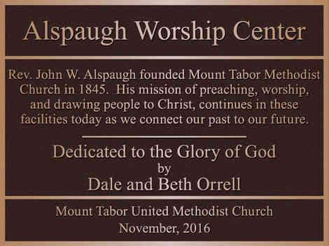 Church Dedication / Information Plaque