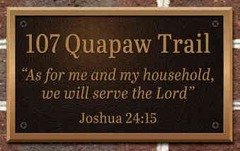 Custom Address Plaque with Scripture