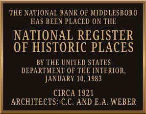 National Register of Historic Places Wall Plaque