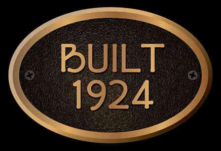 Custom Year-Built House Plaque
