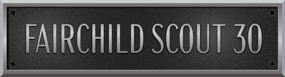 Custom Aluminum Fairchild Scout Sail Boat Plaque