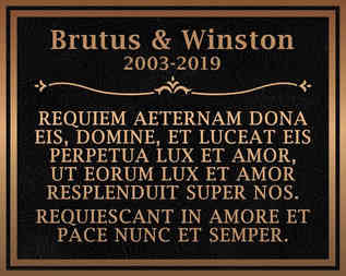 Pet Memorial Plaque with Latin Inscription
