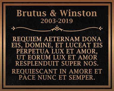 Pet Memorial Plaque with Latin Inscription