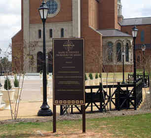 Cathedral Bronze Entrance & Information Plaques