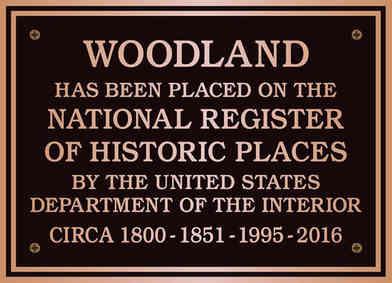 Bronze Historic Register Plaque