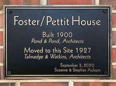 Cast Bronze Historic House Plaque