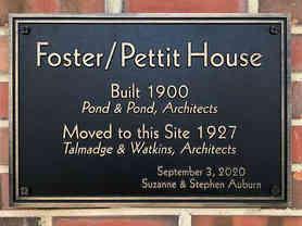 Cast Bronze Custom House Entrance Plaque