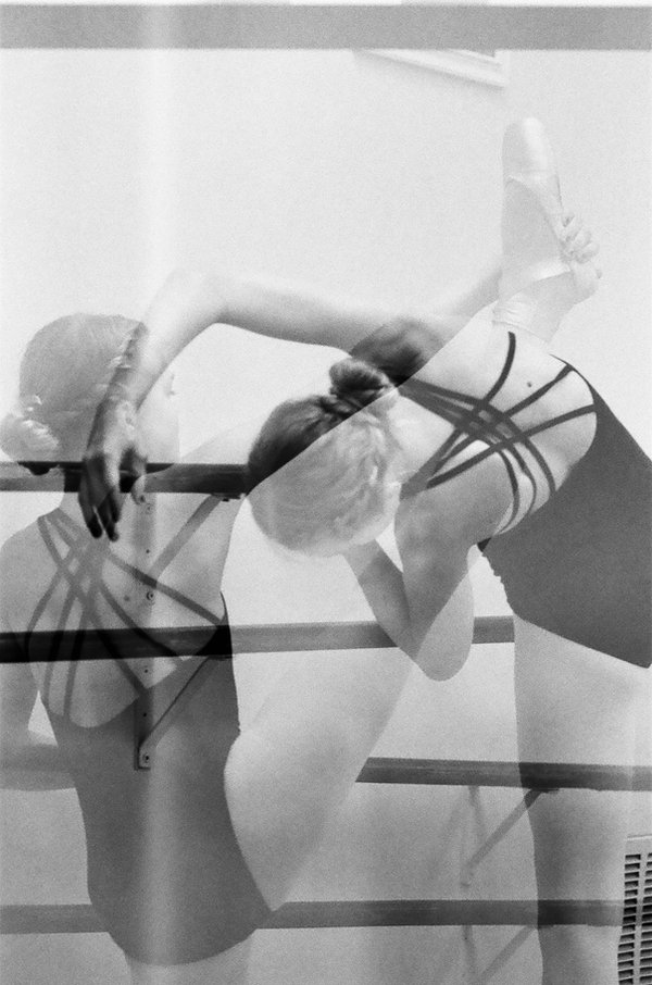 Ballet, double exposure, film photogrphy