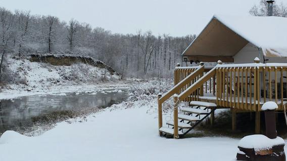 Prospector Tent in Winter