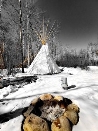 Winter Campsite Tipi