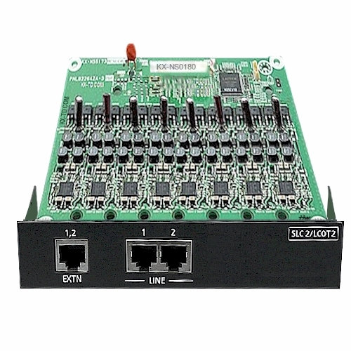 KX-NS0180X  2 Ports Analog Trunk / 2 Analog Extensions Card