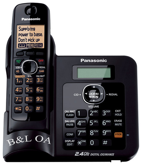 KX-TG3811BXB Cordless Phone 2.4 GHz (Caller ID),Intercom (Black)