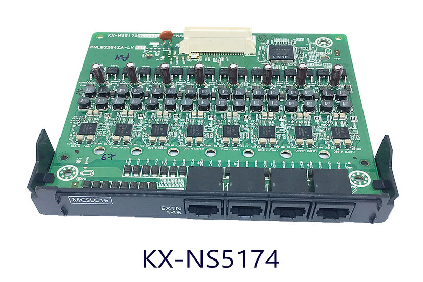 KX-NS5174X แผงขยาย 16 สายใน,16 Analog Ext.Card (Caller ID)