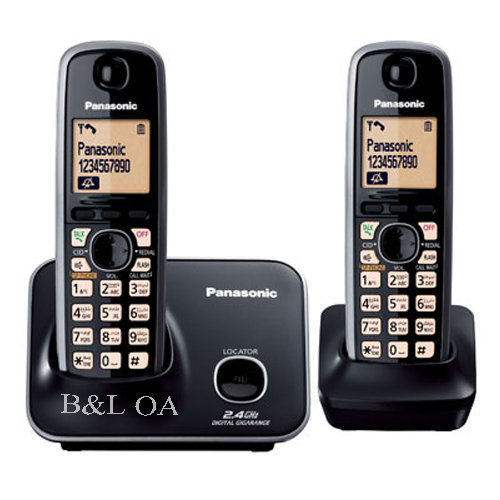 KX-T3712BXB  Cordless Phone 2.4GHz, 2 Handsets