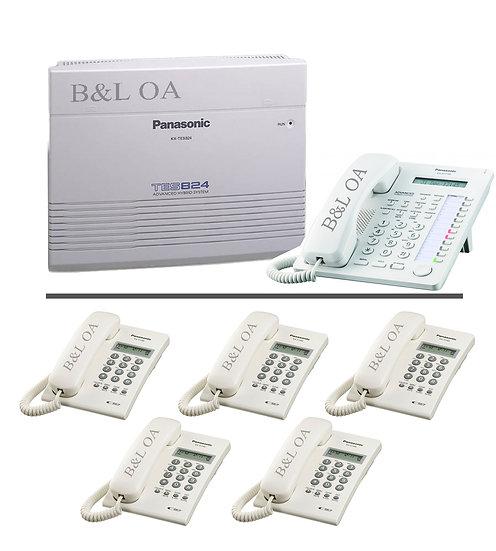 KX-TES824(3/8)  ตู้สาขา Panasonic PBX+KX-AT7730X+KX-T7703X=5